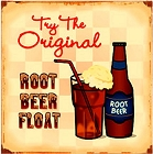 Root Beer Float Metal Sign