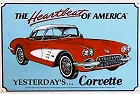 Chevy 1960 Corvette Metal Sign