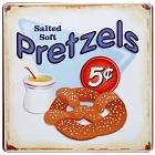 Pretzel Metal Sign