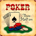 Texas Hold em Poker Metal Sign
