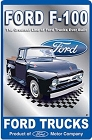 Ford F-100 Truck Metal Sign