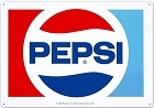 Pepsi 1970 Logo Metal Sign