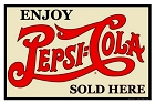 Pepsi Sold Here Metal Sign