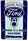 Ford Rustic V8 Metal Sign