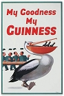 Guinness Pelican Metal Sign