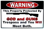 God and Guns Metal Sign