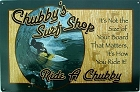 Chubby's Surf Shop Metal Sign