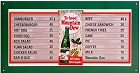 Mountain Dew Menu Board Metal Sign