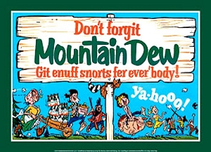 Mountain Dew Group-Snort Metal Sign
