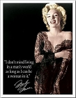 Marilyn - Man's World Metal Tin Sign