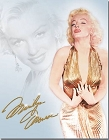 Marilyn Monroe Gold Metal Tin Sign