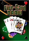 Five Card Draw Metal Sign