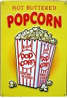 Hot Buttered Popcorn Metal Sign