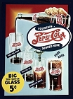 Pepsi Big Ten Ounce Glass Metal Sign