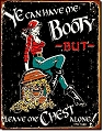 Moore-Me Booty Metal Tin Sign