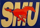 Southern Methodist University Football Metal Sign