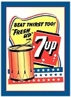 7 Up Beat Thirst Metal Sign
