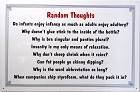 Random Thoughts Metal Sign