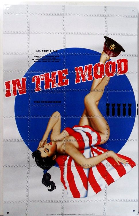 Bomber Art - In The Mood Bomber Metal Sign