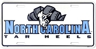 North Carolina Tar Heels Ram License Plate