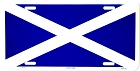 Scotland Flag License Plate