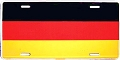 Germany Flag License Plate