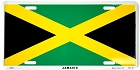 Jamaican Flag License Plate