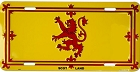 Scotland - Rampart Lion License Plate
