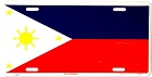 Phillipines Flag License Plate