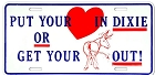 Put Ur Heart In Dixie License Plate