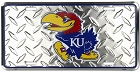 Kansas University Jayhawks Diamond License Plate