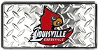 Louisville Cardinals Diamond License Plate