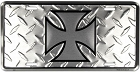 Iron Cross Diamond License Plate