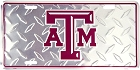 Texas A&M Diamond License Plate