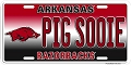 Arkansas Razorbacks Sooie License Plate