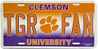 Clemson Tiger Fan License Plate