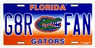 Florida  Gators  Fan License Plate