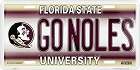 Florida State Seminoles GO NOLES License Plate