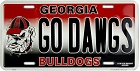 University of Georgia GO Dogs License Plate