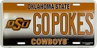 Oklahoma State Univ. Cowboys License Plate