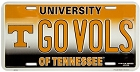 Tennessee Go Volunteers License Plate