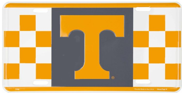 University of Tennessee Checkered Volunteers License Plate