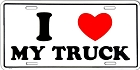 Love My Truck License Plate