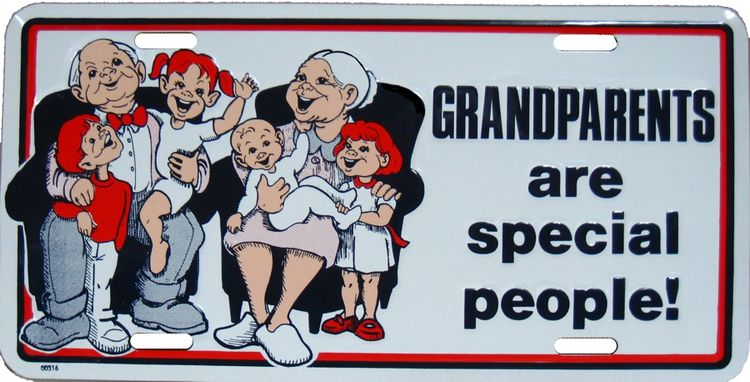 Grandparents Are Special License Plate