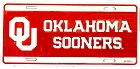 University of Oklahoma Sooners OU License Plate