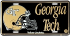 Georgia Tech Black License Plate