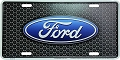 Ford Logo on Grill License Plate