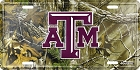 Texas A&M Realtree Camo License Plate