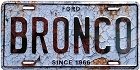 Ford Bronco License Plate