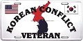Korean Conflict Veteran License Plate
